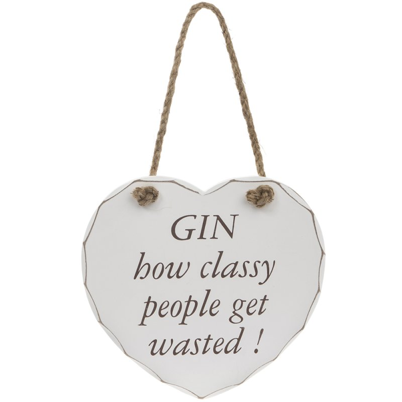 GIN CLASSY GET WASTED PLAQUE
