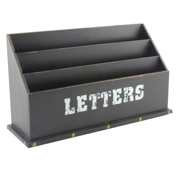 VINTAGE LETTER RACK XL BLACK