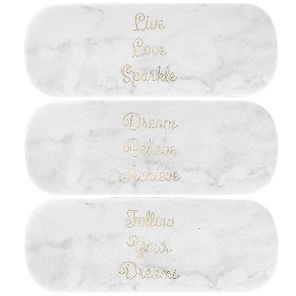 MARBLE WHITE GLASSES CASE 3 AS