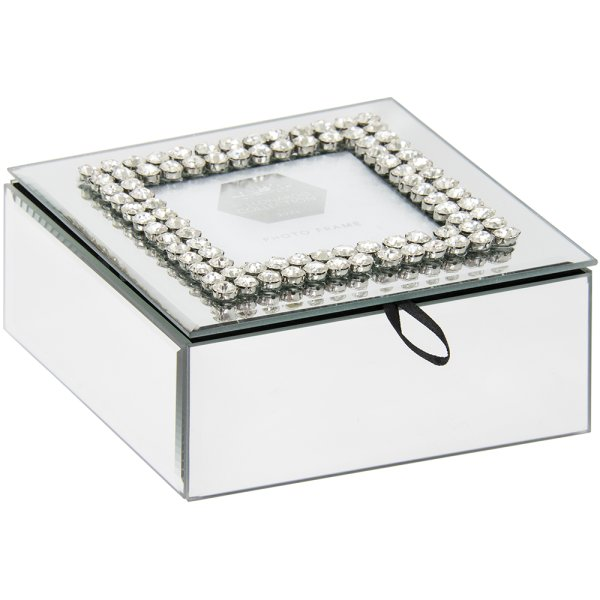 DIAMANTE MIRROR JEWEL BOX MED