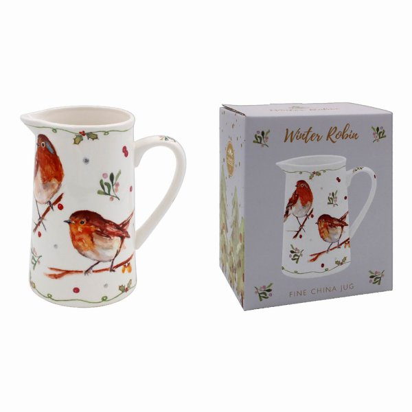 WINTER ROBINS JUG MEDIUM