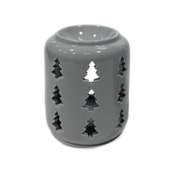 XMAS TREE GREY WAX WARMER 10CM