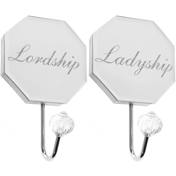 MIRROR LORD&LADY WALL HOOK SET