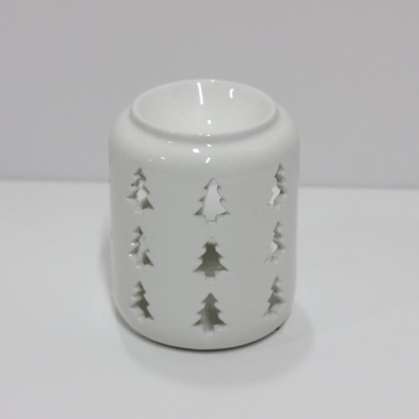 XMAS TREE WHT WAX WARMER 10CM