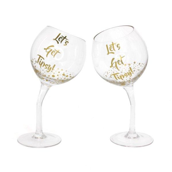 WINE GLASS LETS GET TIPSY SET2