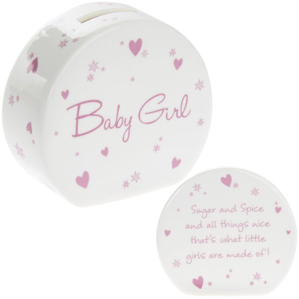 NEW BABY GIRL MONEY BOX