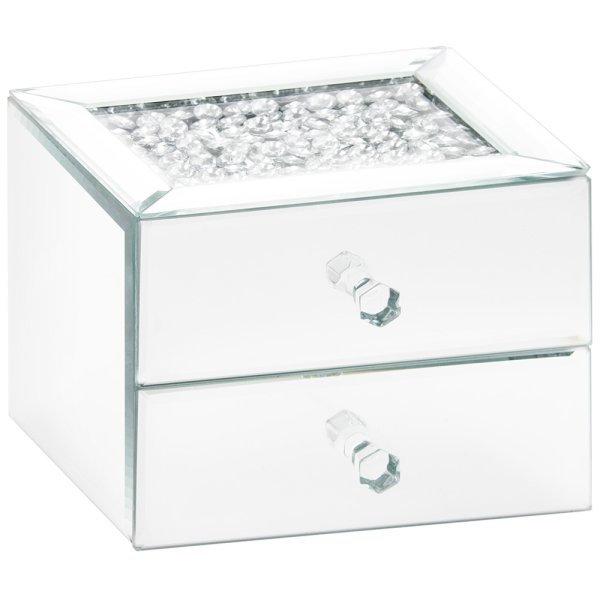 MIRROR CRYSTAL JEWEL BOX 2 DRW