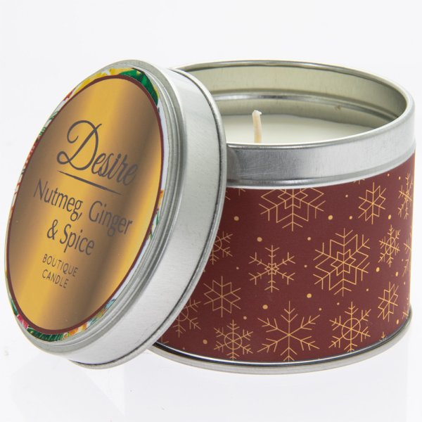 DESIRE NUTMEG TIN CANDLE