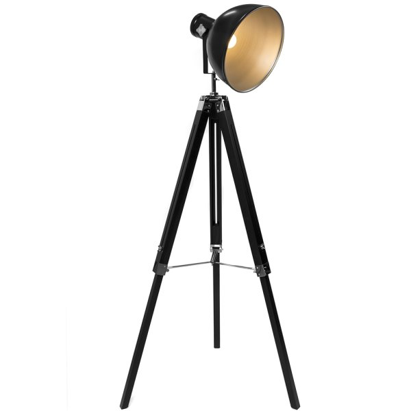 TRIPOD FLOOR LAMP BLACK/SILVER