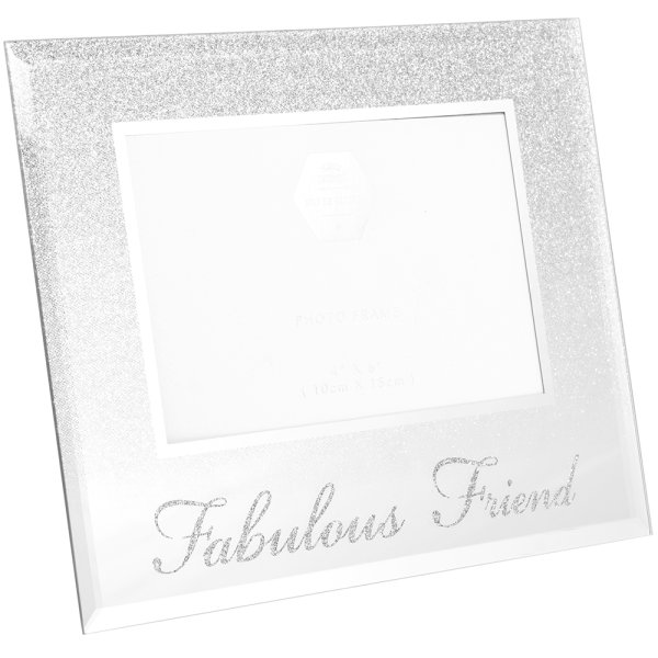 SILVER FAB FRIEND FRAME 4X6