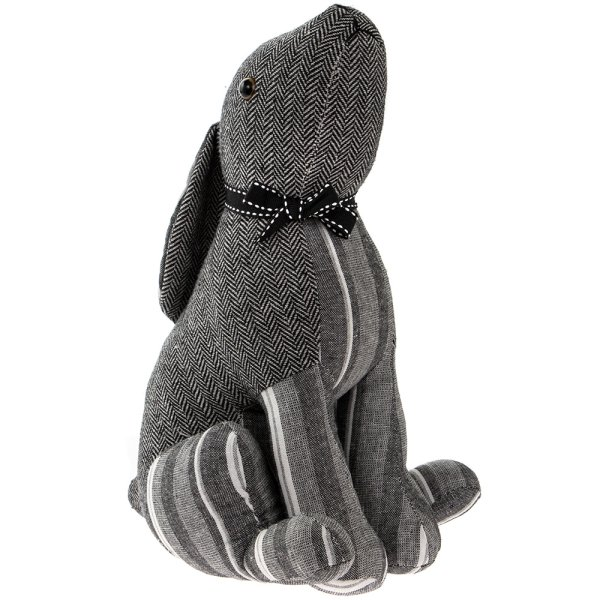 GREY STRIPES HARE DOORSTOP