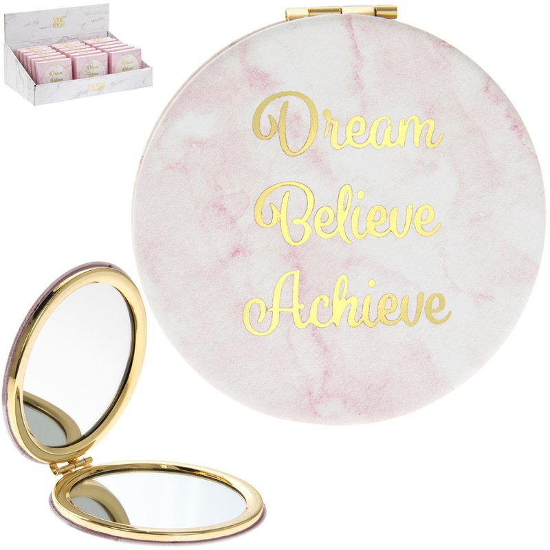 MARBLE PINK COMPACT MIRROR
