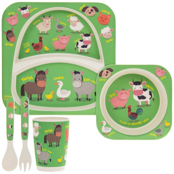 BAMBOO ECO EATING SET FARM