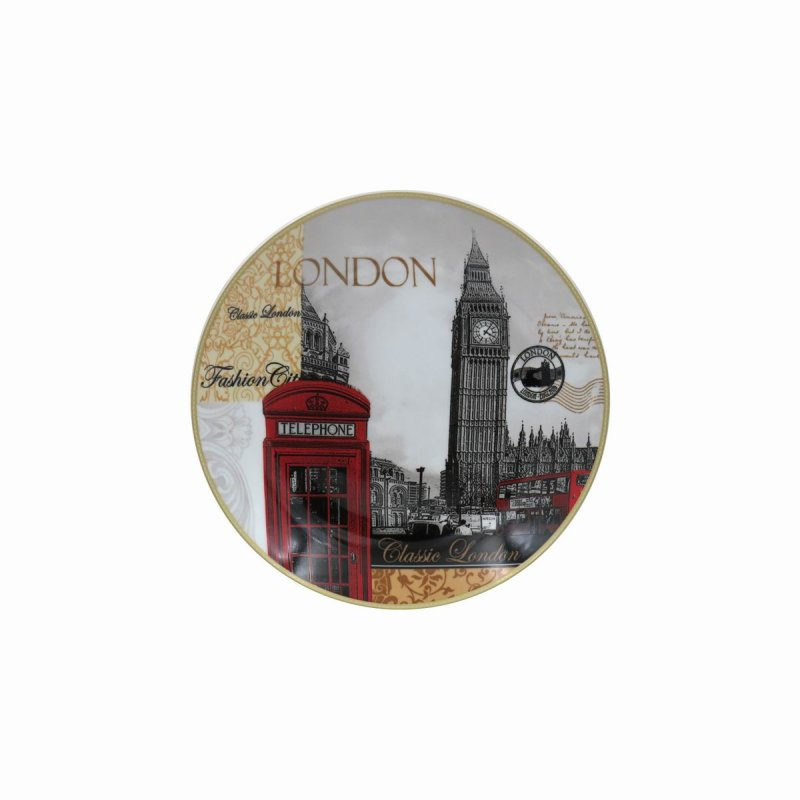 NEW LONDON PLATE W/STAND 8""