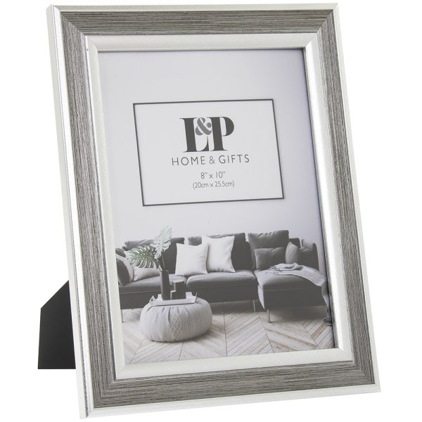 SILVER DUO PHOTO FRAME 8X10
