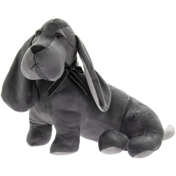 VELVETEEN DOG DOORSTOP