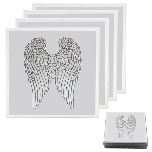 ANGEL WINGS COASTERS SET OF 4