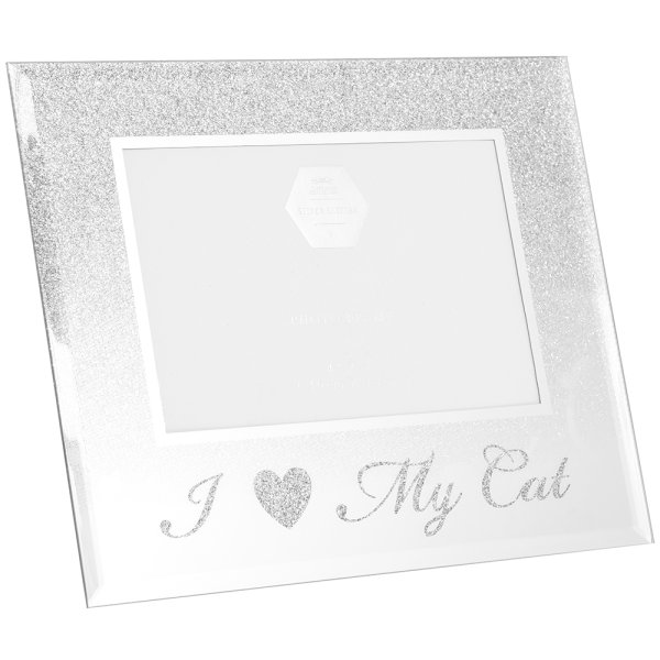 SILVER I LOVE MY CAT FRAME 4X6