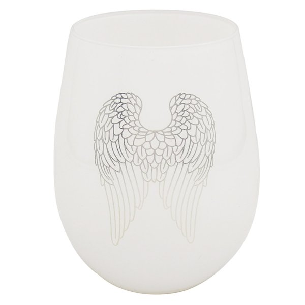 ANGEL WINGS SIL/WHT S/LESS GLS