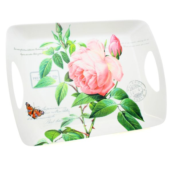 REDOUTE ROSE LARGE TRAY