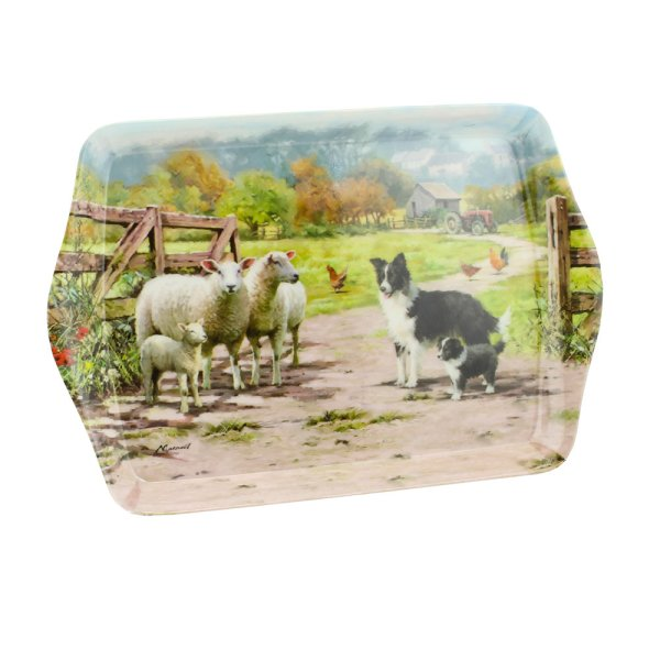 COLLIE & SHEEP TRAY SMALL