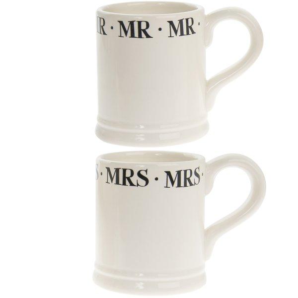 SCRIPT MR & MRS MUG SET OF 2