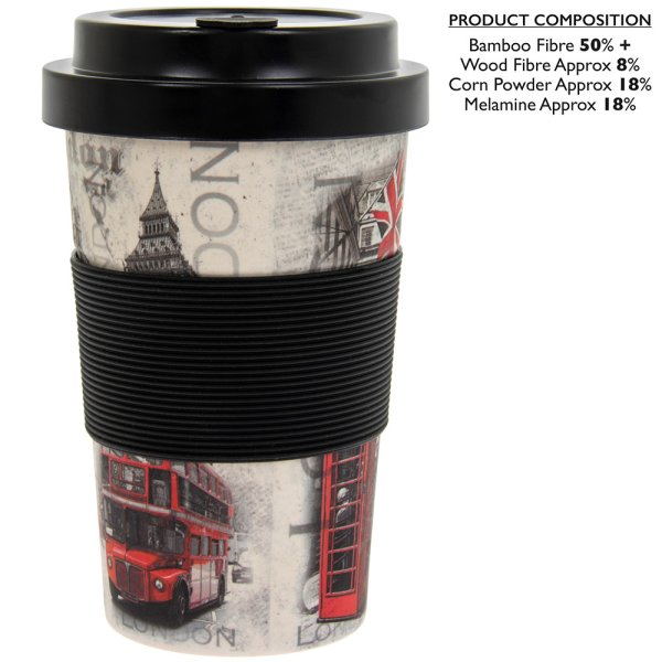 LONDON BAMBOO TRAVEL MUG