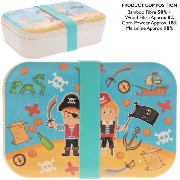 BAMBOO ECO LUNCH BOX PIRATE