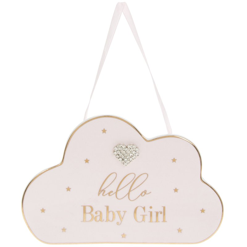 MADDOTS HELLO BABY GIRL PLAQUE