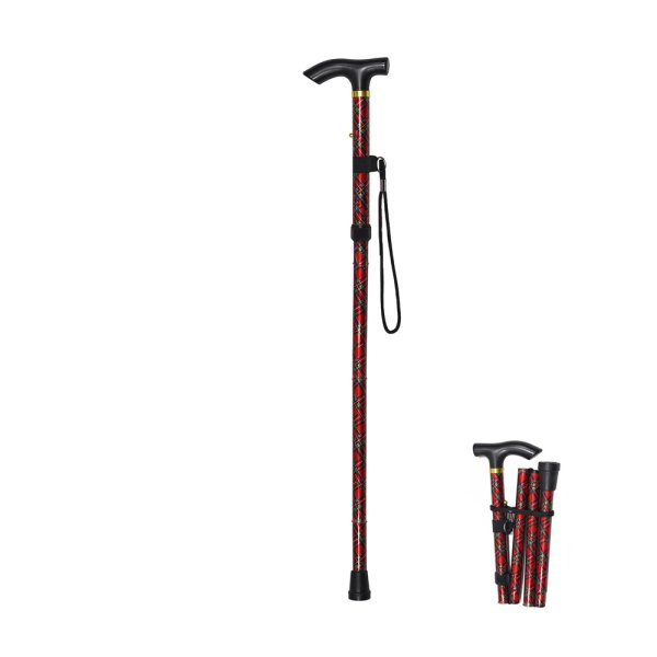 FOLDING WALKING STICK TARTAN