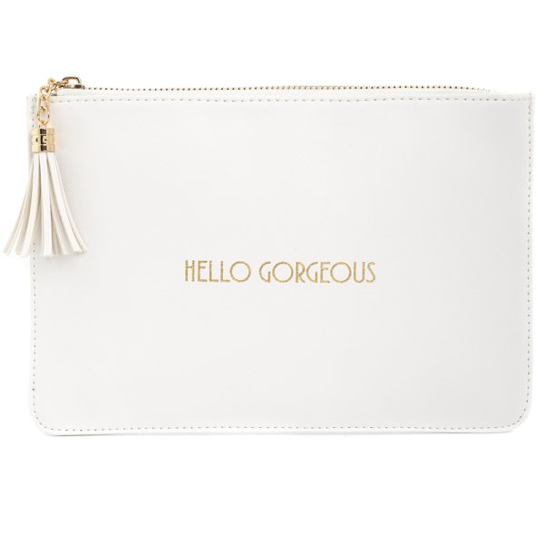 SHINE BRIGHT WHITE CLUTCH