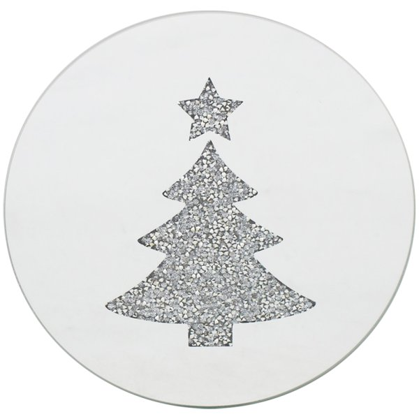 XMAS TREE CANDLE PLATE 20CM