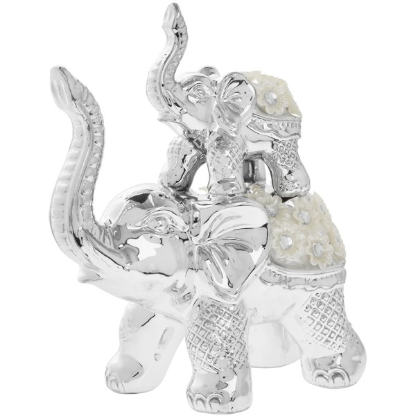 SILVER MILLE ELEPHANT FAMILY
