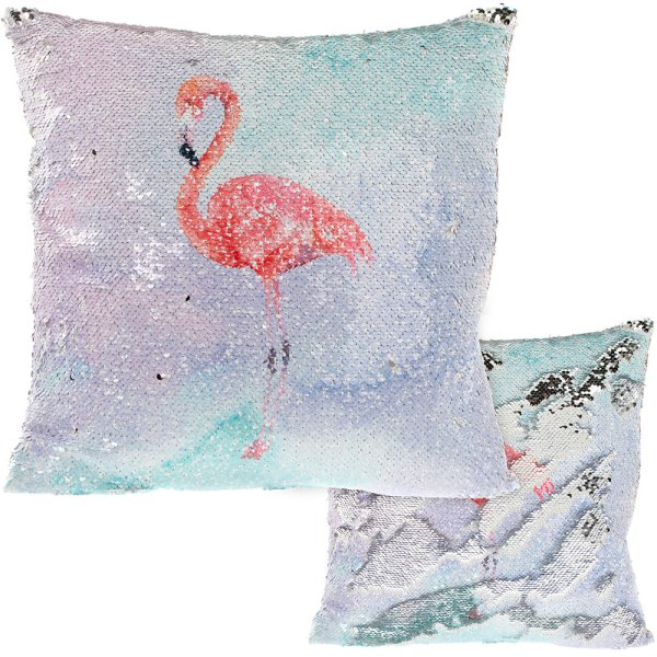 FLAMINGO SEQUIN CUSHION