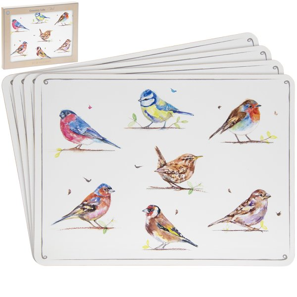 COUNTRY LIFEBIRDS PLACEMATS S4