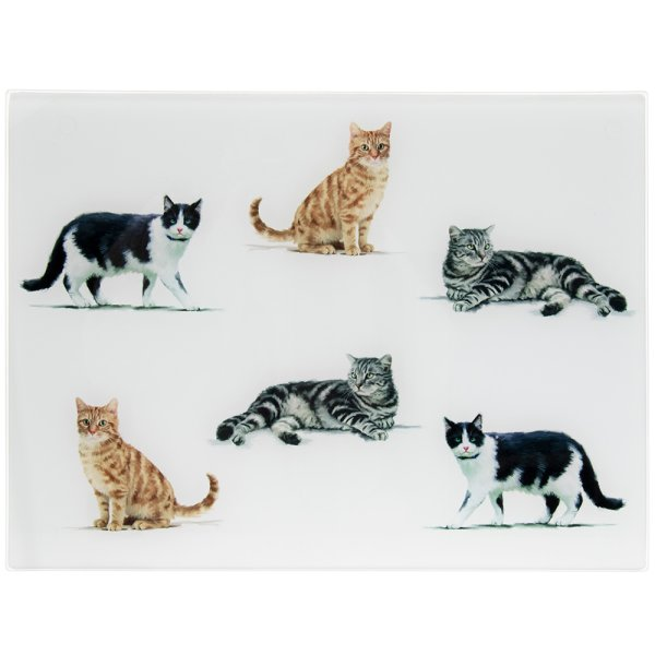 CATS GLASS CUTTING BOARD