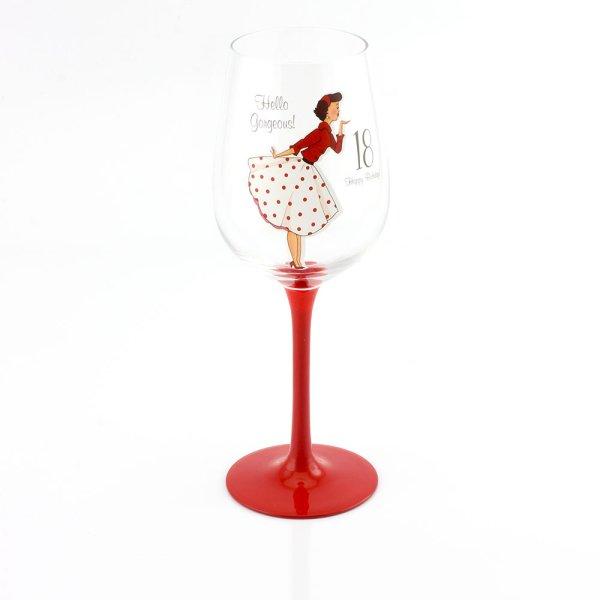 MRS SMITH 18TH WINE GLASS