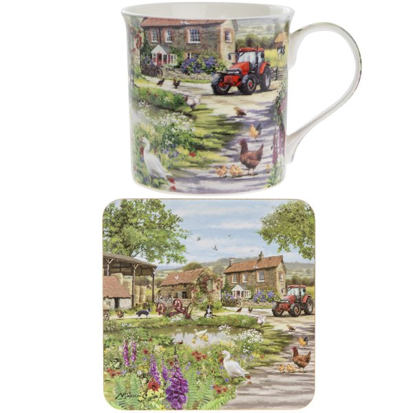 FARMYARD MUG & COASTER