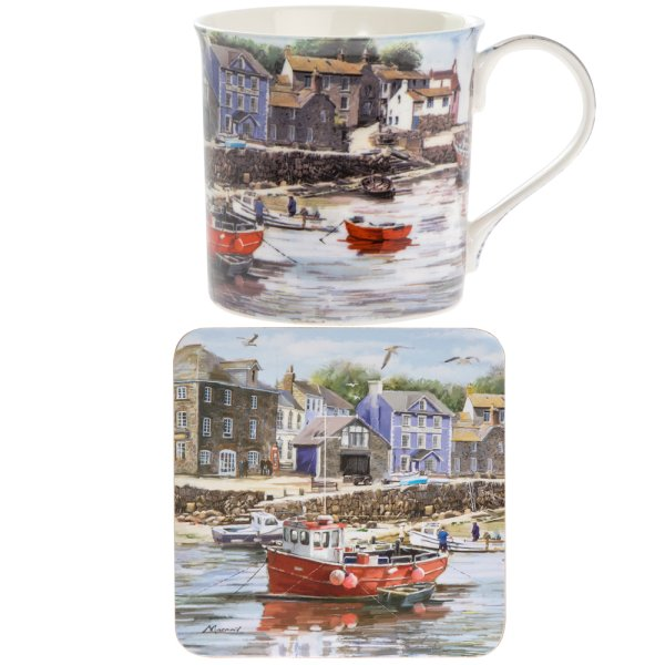 OLD HARBOUR MUG & COASTER