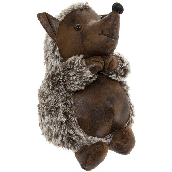 FAUX LEATHER HEDGEHOG DOORSTOP