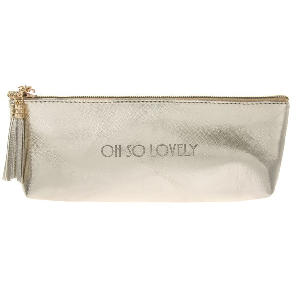 SHINE BRIGHT GOLD COSMETIC BAG