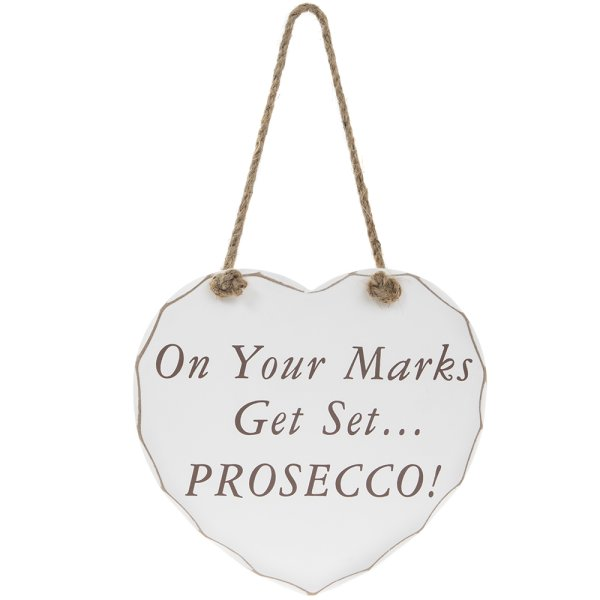 GET SET PROSECCO PLAQUE