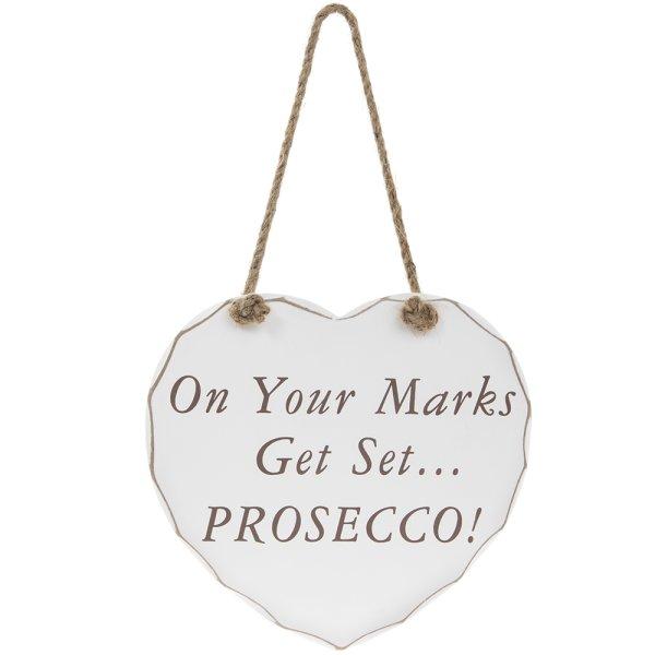 GET SET PROSECCO PLAQUE