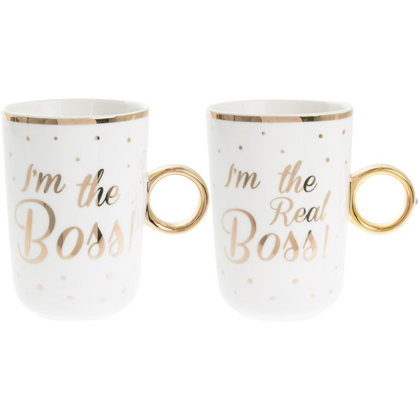 BOSS / REAL BOSS MUGS SET OF 2