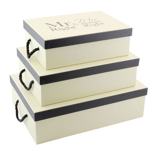 MR & MRS RIGHT BOXES SET 3