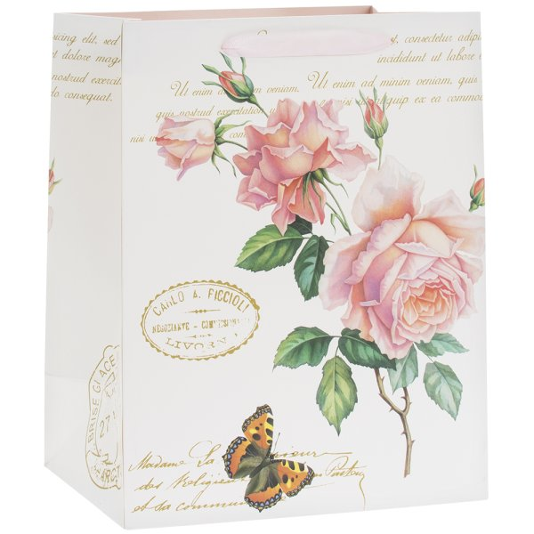 REDOUTE ROSE GIFT BAG LGE