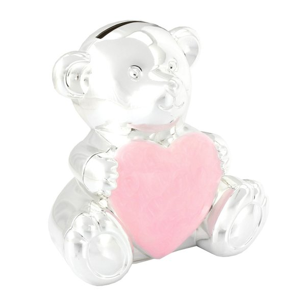 S/P TEDDY MONEY BOX PINK