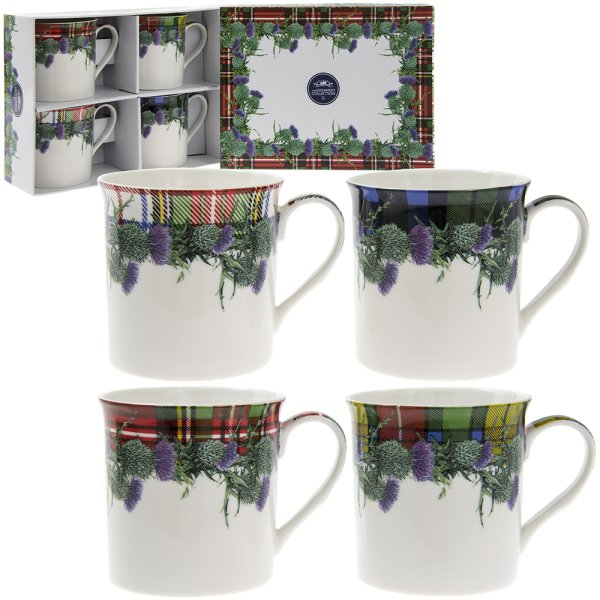 TARTAN MUGS SET OF 4