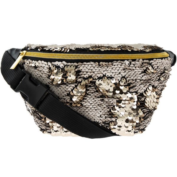 SEQUIN BUMBAG CHAMPAGNE GOLD