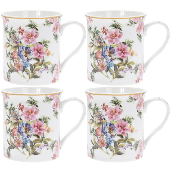 LILY ROSE MUGS SET OF 4